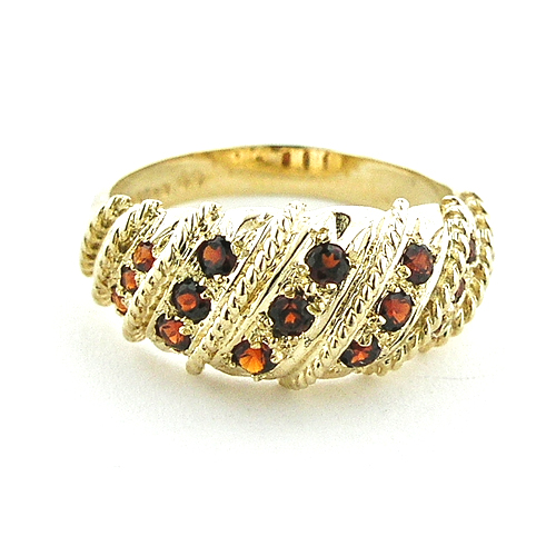 The Great British Jeweler Solid English Yellow 9K Gold Ladies Brilliant Garnet Vintage Style Ring - Finger Sizes 5 to 12 Available at Sears.com