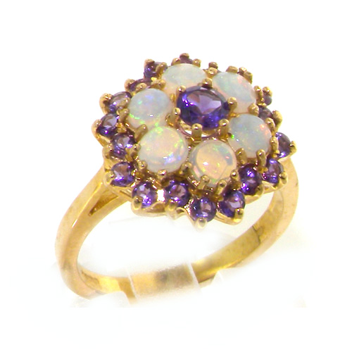 The Great British Jeweler 18K Yellow Gold Womens Amethyst & Opal Cocktail Ring - Finger Sizes 5 to 12 Available at Sears.com